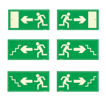 REALGLOW EXIT MAN STEPS SIGN